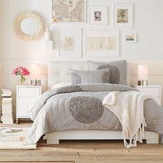 romantisch mit Grau und Weiß