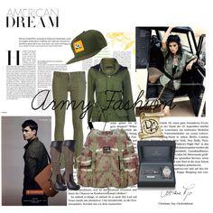 """army fashion"" by sherinasyafitri on Polyvore"