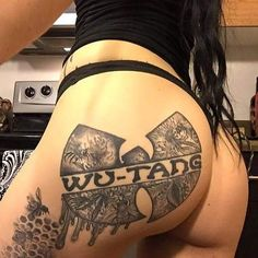 The Wu-tang Clan represented Hot Tattoos, Body Art Tattoos, Girl Tattoos, Tatoos, Wutang, Wu Tang Tattoo, Hot Tattoo Girls, Wu Tang Clan, Hip Hop Art