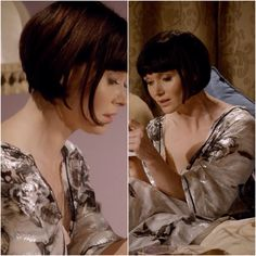 This will be the end result. The perfect 1920's bob as worn by Phryne Fisher (actress Essie Davis) in Miss Fisher's Murder Mysteries.