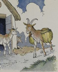 THE WOLF, THE KID, AND THE GOAT - Aesop Fables for Kids