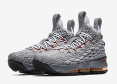 deea026d8e3 Nike LeBron 15 Wolf Grey Safety Orange Release Date - Sneaker Bar Detroit  Lebron 16