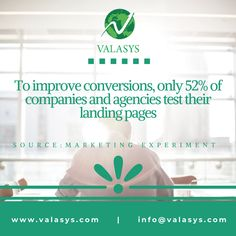 Improve Conversion rate of landing pages. Content Marketing, Landing, Conversation, How To Become, Inbound Marketing