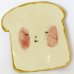 Home > Kitchen > Ceramics: Toast Plate = Toast SVG + Plate Ring Bottom Add-On * Hand Painted