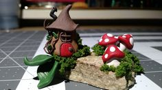 Miniture fairy house/ Polymer clay gnome home/fairy home/clay fairy home by CrystalStarCreatures on Etsy