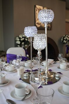 Trio of Crystal globes are great and add sparkle for so many events and can be hired in The Midlands from Make It Special Events.  http://www.makeitspecialevents.co.uk/