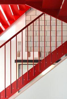 a f a s i a: architecten de vylder vinck taillieu Stair Handrail, Banisters, Industrial Restaurant, Loft House, Factory Design, Architecture Details, Home Art, Stairs, House Design