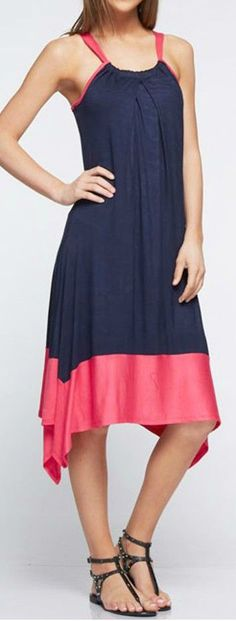 Navy Alden Dress //