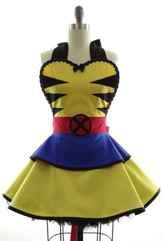 Wolverine apron, a perfect choice for some comic book flare in your baking.
