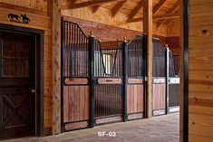 Horse stall designs done by the experts. Horse Barn Designs, Small Horse Barns, Horse Stalls, Horse Care, Horses, Gallery, Joinery, Barn Homes, Furniture