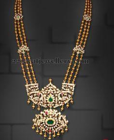Diamond Patakam Haram | Jewellery Designs