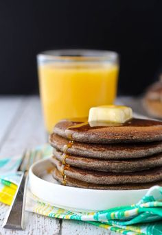 These buckwheat pancakes are made with buckwheat flour, resulting in a beautiful nutty flavor. They're filling, healthy, and a great way to start the day. Get the easy breakfast recipe on RachelCooks.com!