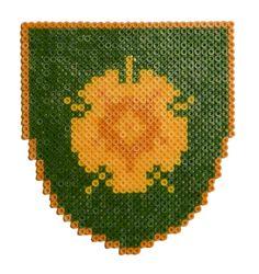 Game of Thrones : Tyrell shield perler beads by Garrosa on deviantART