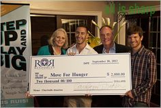 Donating to a charity #moveforhunger http://www.resourcesrealestate.com/Careers.html