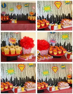 Superhero Party Idea Birthday Snacks Fun 4th