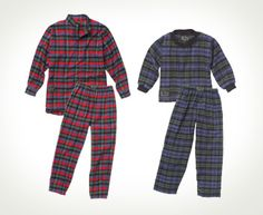 Flannel Pajama Sets. Rest easy and stay warm in Vermont Flannel Pajamas. A Henley-style top for adults and long sleeve tee top for youth.