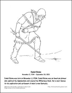 Chocolate milkshake recipe and coloring pages inventor for Daniel boone coloring pages