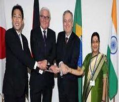 भारत ने जी 4 देशों के साथ मिलकर सुरक्षा परिषद की कार्यवाही में सुधार की मांग की…