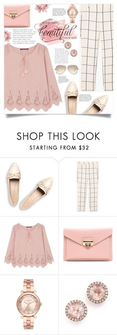 """""""In the spring: Pink Beauty"""" by keziatmrskasrf ❤ liked on Polyvore featuring MANGO, Comptoir Des Cotonniers, WALL, Michael Kors, Dana Rebecca Designs and Chloé"""