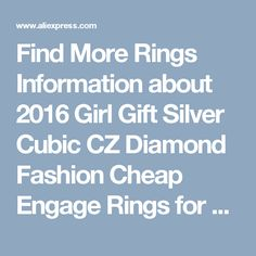 Find More Rings Information about 2016 Girl Gift Silver Cubic CZ Diamond Fashion Cheap Engage Rings for Women Jewelry for Women Joyas Anillos Anel Feminino J002,High Quality gifts furniture,China wedding cake bride and groom Suppliers, Cheap wedding favors and gifts from Uloveido Official Store on Aliexpress.com