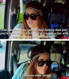Khloe Kardashian talking about Kim Kardashian HAHAHA