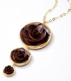 Tick Wood Necklace #Necklace #Fashion #Gold