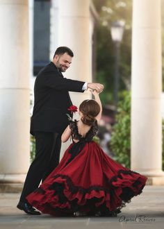 Step into the luxurious world of little girls gowns by Anna Triant Couture and experience the magic of innovative style in every perfect stitch. Little Girl Gowns, Gowns For Girls, Little Girl Dresses, Girls Dresses, Red Flower Girl Dresses, Flower Girls, Father Daughter Photos, Mother Daughters, Mother Son