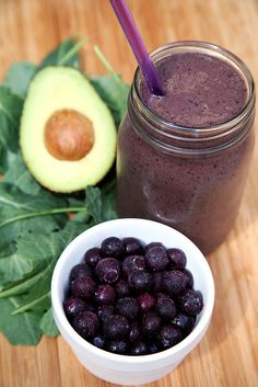 This 350-calorie smoothie is chock-full of nutrients as well as Greek yogurt and avocado. It makes a creamy...
