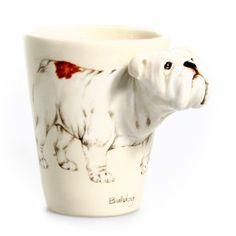 Bulldog Mug by Blue Witch Ceramics