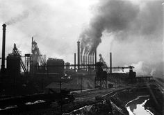 """Steel works near Pittsburgh 1909"" by Lewis W. Hines (1874-1940)"