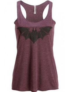 Women's Purple Bat Loose Fit Tank Top