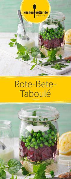 Lecker Salat mit Erbsen und frischer roter Bete. Schnell zubereitet schmeckt dieses gesunder Gericht auch am nächsten Tag im Büro noch super köstlich!