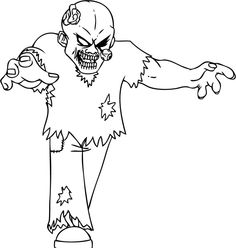 Terrible Zombie Coloring Pages