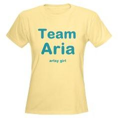 """Team Aria """"Artsy Girl"""" Women's Light T-Shirt > Team Aria of PLL > The Couch Potato.  Pretty Little Liars merchandise prices starting as low as $5.40"""