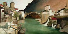 Csontváry Kosztka, Tivadar (Hungarian, - Roman Bridge at Mostar Vincent Van Gogh, Budapest, Rio Grande, Sunny Afternoon, Post Impressionism, Art Database, Hanging Art, Nocturne, Pilgrimage