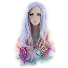 Women Synthetic Wig Capless Long Wavy Natural Wave Deep Wave Rainbow Lolita Wig Party Wig Halloween Wig Cosplay Wig Costume Wig - USD $15.87 ! HOT Product! A hot product at an incredible low price is now on sale! Come check it out along with other items like this. Get great discounts, earn Rewards and much more each time you shop with us!