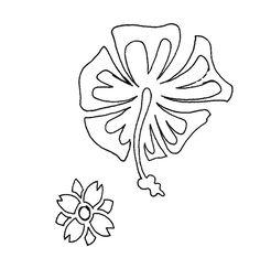 Plantilla de flores para estarcido