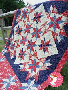 Oh My Stars Quilt Pattern #pattern #quilt #fabric