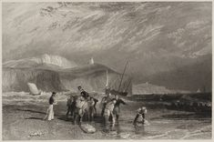 After Joseph Mallord William Turner 'Coast from Folkestone Harbour to Dover, engraved by J. Horsburgh', 1831
