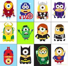 самые популярные супергерои - миньоны