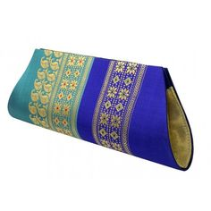 Blue color Artisans Baluchari Clutches by Parul- PC -14039