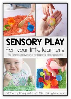 Sensory Play for your Little Learners eBook | play ideas for newborns, babies and toddlers | 3 months, 6 months, 9 months, 12 months, 1 year old |