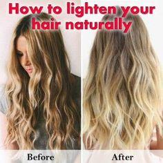 Haare naturlich aufhellen sommer