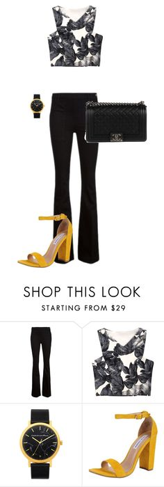 """Untitled #225"" by jmatz on Polyvore featuring Frame Denim, Steve Madden and Chanel"