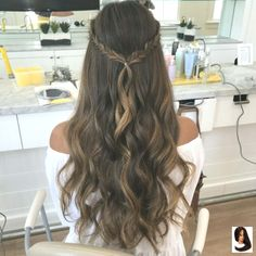 These easy hairstyles are fabulous. These easy hairstyles are fabulous. These easy hairstyles are fabulous. Dance Hairstyles, Wedding Hairstyles, Simple Prom Hairstyles, Prom Hairstyles Down, Hairstyle Ideas, Graduation Hairstyles Half Up Half Down, Prom Hairstyles For Long Hair Half Up, Half Up Half Down Hairstyles, Hairstyles With Braids