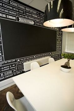 This might be good to have chalk board paint in the middle spot and write all of the events coming up.