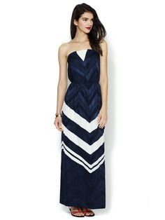 Silk Printed Strapless Maxi Dress by The Addison Story on Gilt.com