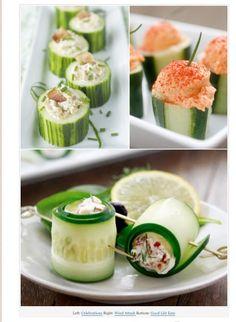 Mini cucumber wraps
