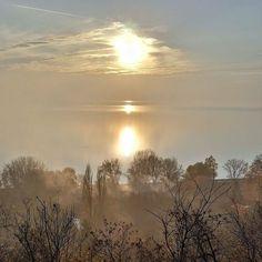 @Regrann from @6337623ster -  #november #sunset #balaton - #regrann