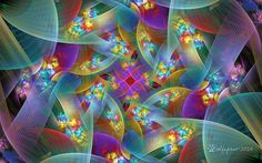 Pastel fractal spiral with floral accents. Created using JWIldfire v2.6, enlarged using BenVista PhotoZoom Classic and postwork done using PhotoShop CS5. Orig params name: PW 1 Spherical Bubble 05-...